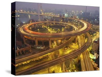 The Nanpu Bridge, Connecting Shanghai with the Pudong New Area-xPacifica-Stretched Canvas Print
