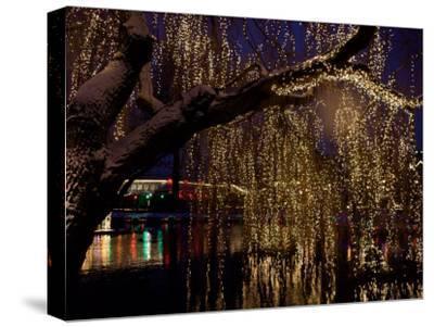 Christmas at Tivoli Where Holiday Lights Brighten the Long Winter Night-Keenpress-Stretched Canvas Print