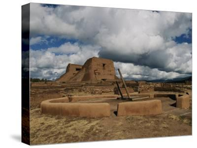 View of the Kiva and Church at Pecos National Historical Park-Ira Block-Stretched Canvas Print