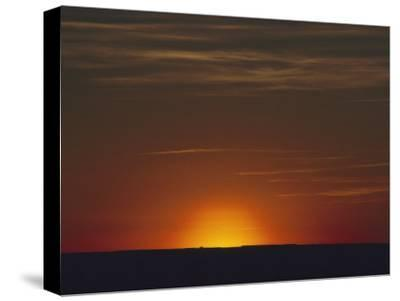 Sunrise in the Desert, Arizona-David Edwards-Stretched Canvas Print