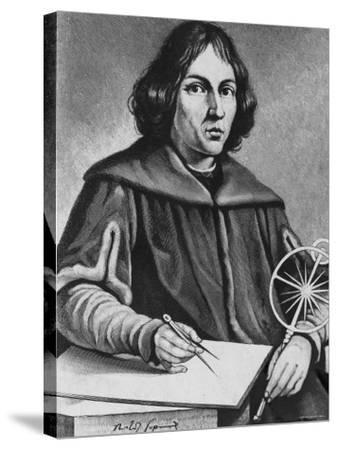 Famed Polish Astronomer Nicolaus Copernicus--Stretched Canvas Print