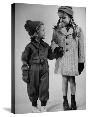 Children Modeling Clothes from a Story Concerning Dresses For Invasion Countries-Nina Leen-Stretched Canvas Print