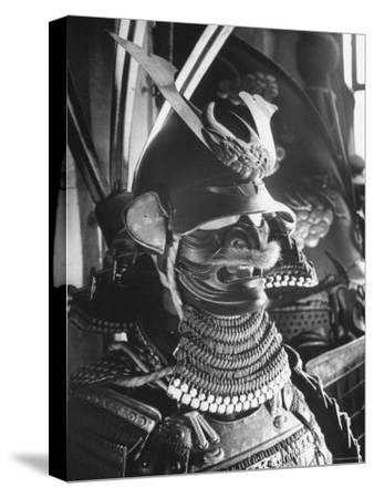 Helmet from Japanese Samurai Suit-Fritz Goro-Stretched Canvas Print