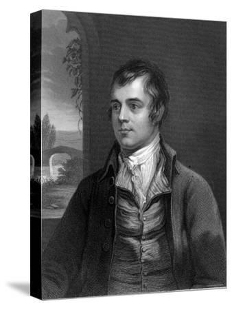 Portrait of Robert Burns, Scottish Poet--Stretched Canvas Print