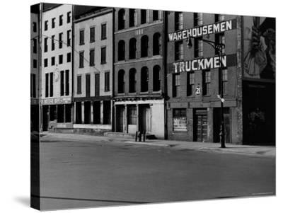 South Street, Just Below Coentus Slip-Walker Evans-Stretched Canvas Print