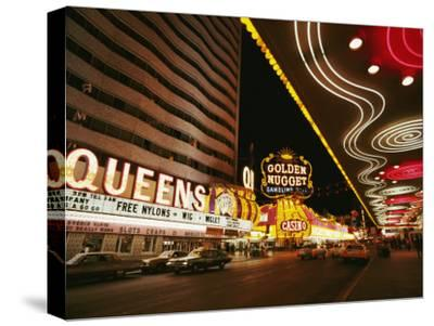 View of Downtown Las Vegas at Night-Walter Meayers Edwards-Stretched Canvas Print