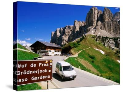 Gardena Pass, Dolomiti Di Sesto Natural Park, Italy-Richard Nebesky-Stretched Canvas Print