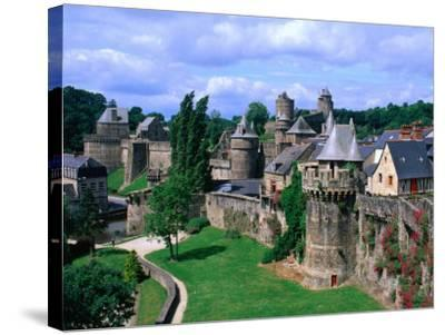 Fortified Walls of Stone, Chateau at Fougeres, Fougeres, France-John Elk III-Stretched Canvas Print