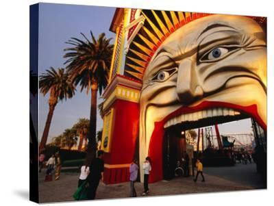Entrance of Luna Park, Melbourne, Australia-James Braund-Stretched Canvas Print