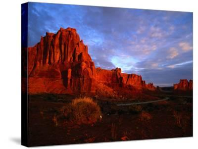 Courthouse Towers at Dusk, Arches National Park, USA-Carol Polich-Stretched Canvas Print