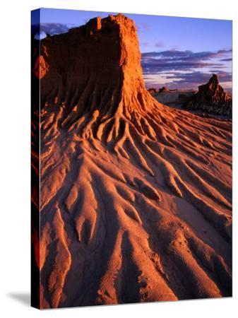 Detail of Walls of China, Mungo National Park, Australia-Paul Sinclair-Stretched Canvas Print
