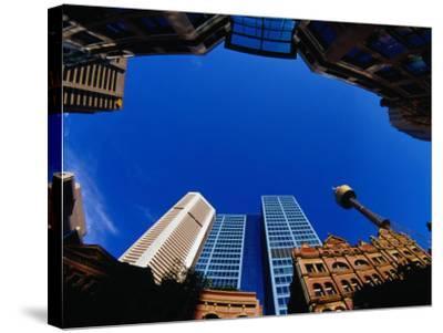 Historic and Modern Buildings, Sydney, Australia-Krzysztof Dydynski-Stretched Canvas Print
