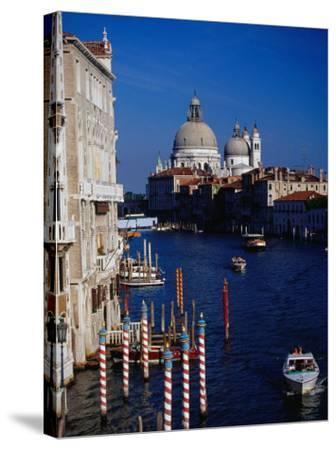 Grand Canal and Domes of Chiesa Di Santa Maria Della Salute in Distance, Venice, Italy-Gareth McCormack-Stretched Canvas Print