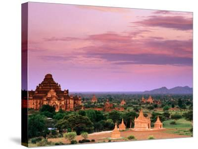 Pink Sky From Swesandaw Paya, Bagan, Myanmar (Burma)-Anthony Plummer-Stretched Canvas Print