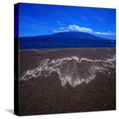 Black Volcanic Sand Beach on Isla Fernandina, Isla Fernandina, Galapagos, Ecuador-Wes Walker-Stretched Canvas Print