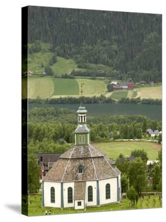 Sofar Fron Octagonal Stone Church, Laggen River Valley, Ringebu, Norway-Russell Young-Stretched Canvas Print