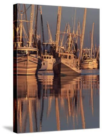 Shrimp Boats Tied to Dock, Darien, Georgia, USA-Joanne Wells-Stretched Canvas Print