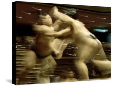 Sumo Wrestling Japan--Stretched Canvas Print