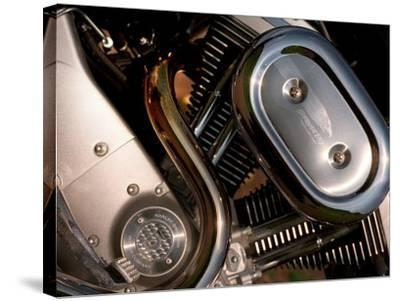 Harley Davidson Motorbike, June 1998--Stretched Canvas Print