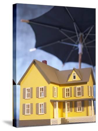 Beautiful Home Under an Umbrella--Stretched Canvas Print