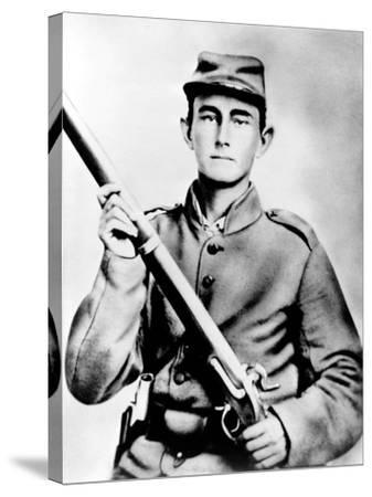 Enoch Hooper Cook, Jr., Pvt, Co. H. 38th Alabama Infantry, C.S.A.--Stretched Canvas Print