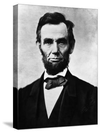 Abraham Lincoln, 1863-Alexander Gardner-Stretched Canvas Print