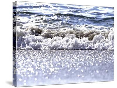 Gently Lapping Surf-Georgienne Bradley-Stretched Canvas Print