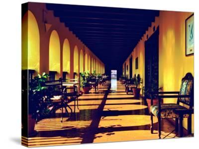 El Convento Hotel, Patio del Nispero, Courtyard, San Juan, Puerto Rico-Greg Johnston-Stretched Canvas Print