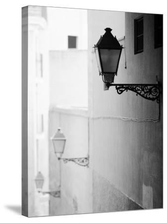 Streelights, Palma, Mallorca, Spain-Walter Bibikow-Stretched Canvas Print