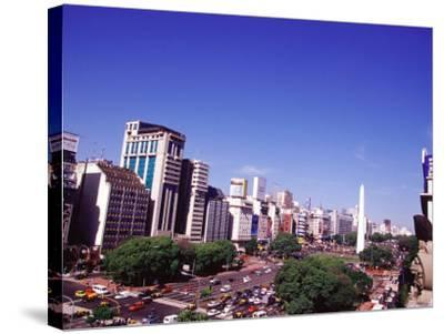 Avenida 9 de Julio and Obelisco, Buenos Aires, Argentina-Michele Molinari-Stretched Canvas Print