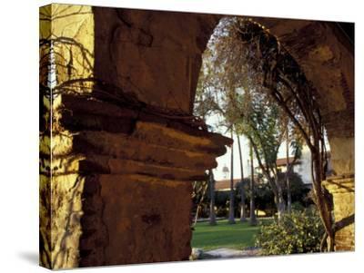 Courtyard of Mission San Juan Capistrano, California, USA-John & Lisa Merrill-Stretched Canvas Print