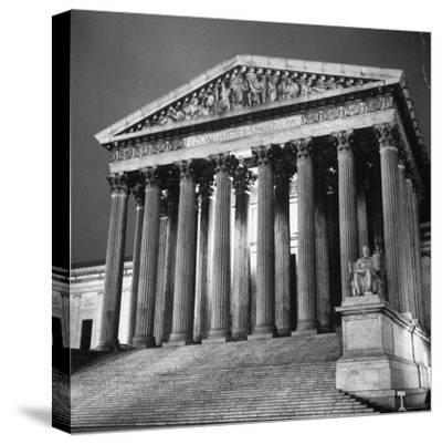 Exterior of the Supreme Court Building-Paul Schutzer-Stretched Canvas Print