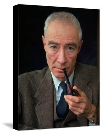 Nuclear Physicist Dr. J. Robert Oppenheimer-Alfred Eisenstaedt-Stretched Canvas Print