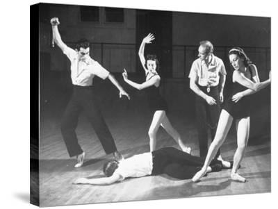 """Antony Tudor Rehearsing Hugh Laing as Romeo in the Death of Mercutio from """"Romeo and Juliet""""-Alfred Eisenstaedt-Stretched Canvas Print"""