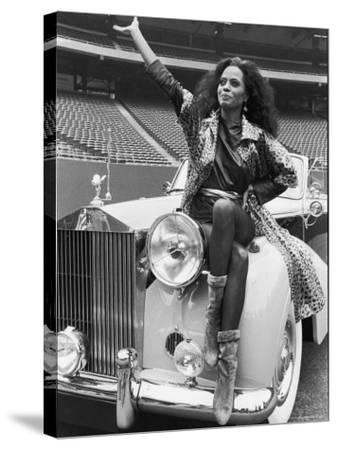 Singer Diana Ross-David Mcgough-Stretched Canvas Print
