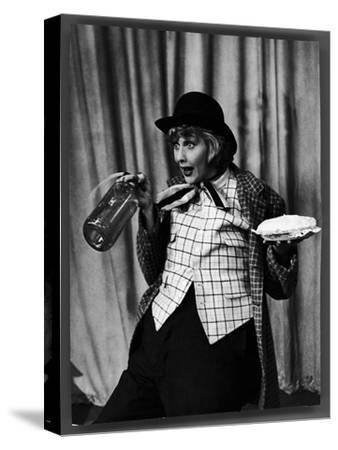 """Comedienne Lucille Ball Clowns During TV Episode of """"I Love Lucy""""-Loomis Dean-Stretched Canvas Print"""