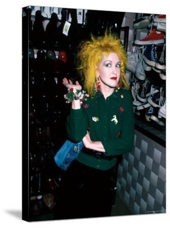 Singer Cyndi Lauper-David Mcgough-Stretched Canvas Print