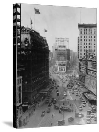 Intersection of Broadway and 7th Avenue, North of Times Square-Emil Otto Hopp?-Stretched Canvas Print