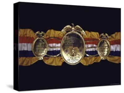 "Boxing Champ Joe Frazier's ""The Ping Magazine Award World Heavyweight Championship"" Medal-John Shearer-Stretched Canvas Print"