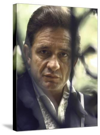 Country/Western Singer Johnny Cash-Michael Rougier-Stretched Canvas Print