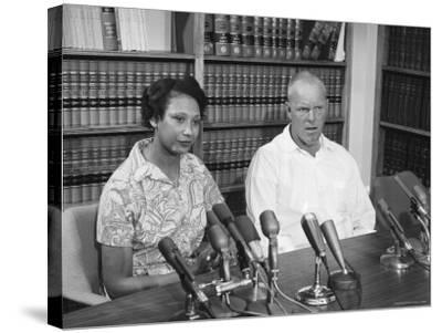 Richard P. Loving and Wife, After Supreme Court Rules That Inter Racial Marriage is Legal-Francis Miller-Stretched Canvas Print