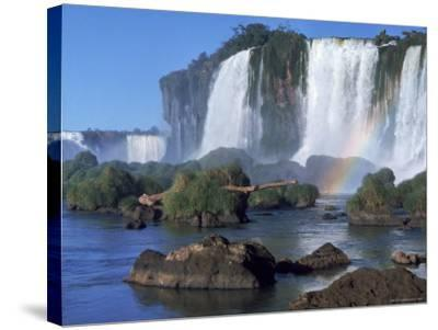 Waterfall Named Iguassu Falls, Formerly Known as Santa Maria Falls, on the Brazil Argentina Border-Paul Schutzer-Stretched Canvas Print
