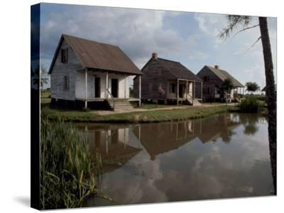 Houses in the Bayou Country of Louisiana--Stretched Canvas Print