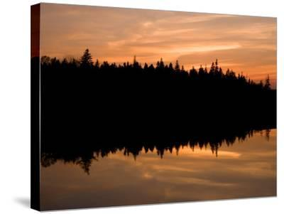 Sunset over Bass Harbor Marsh, Acadia National Park, Maine, USA-Jerry & Marcy Monkman-Stretched Canvas Print