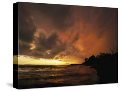 Dramatic View of the Pacific Ocean at Sunset on the Osa Peninsula-Steve Winter-Stretched Canvas Print