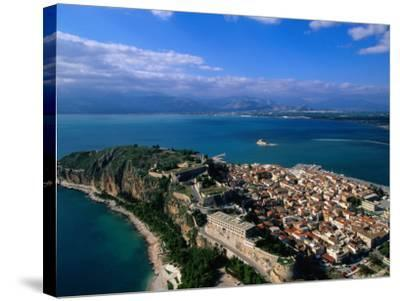 Aerial View of Nafplio (Nauplion) from Palamidi Fort, Nafplio, Greece-John Elk III-Stretched Canvas Print