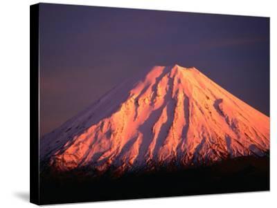 Mt. Ngauruhoe Illuminated in Sunlight, Tongariro National Park, Manawatu-Wanganui, New Zealand-David Wall-Stretched Canvas Print