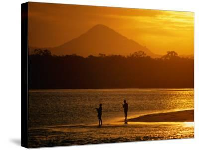 Sunset at Noosa Heads, Noosa, Australia-Peter Hendrie-Stretched Canvas Print