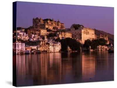 City Palace at Sunset, Udaipur, India-Dan Gair-Stretched Canvas Print