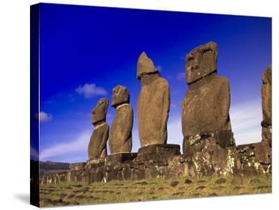 Moai at Ahu Tahai, Easter Island, Chile-Angelo Cavalli-Stretched Canvas Print